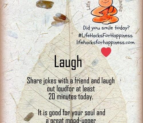 laugh lifehacksforhappiness