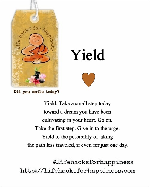 yield life hacks for happiness