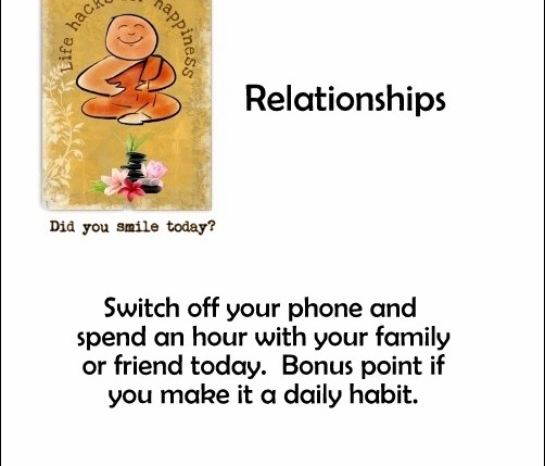 relationships life hacks for happiness