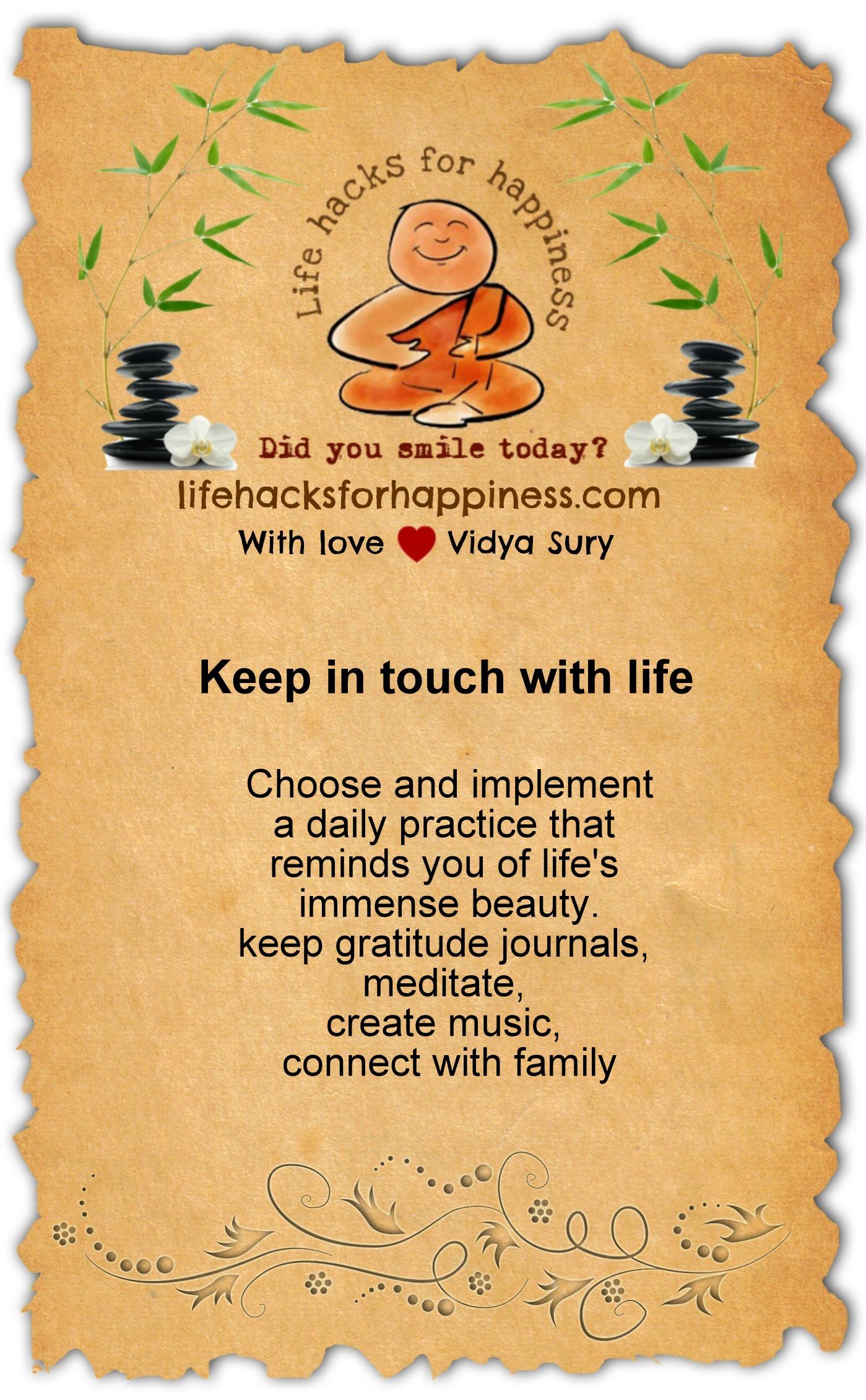 life hacks for happiness vidya sury