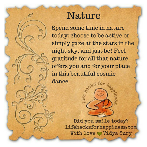 Nature #lifehacksforhappiness