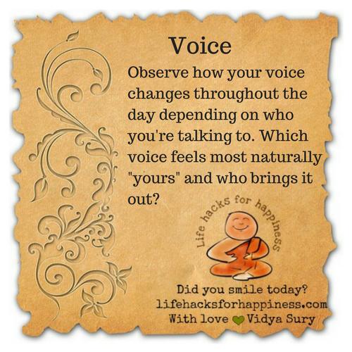 Voice #lifehacksforhappiness