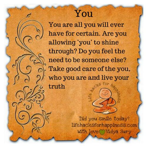 You #lifehacksforhappiness